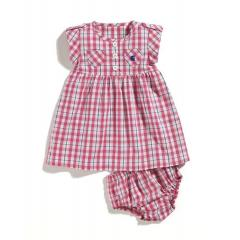 Infant and Toddler Girls' Woven Plaid Dress Set with Bloomer