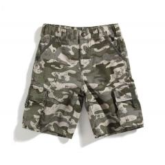 Boys' Washed Camo Ripstop Short