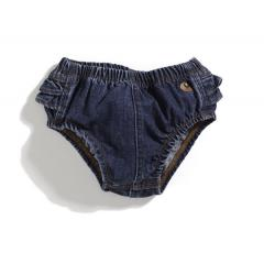 Infant Girls' Washed Denim Diaper Cover