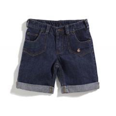 Girls' Washed 5-Pocket Denim Bermuda Short