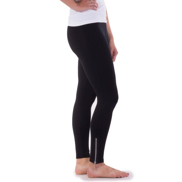 Comfy USA Women's Long Zipper Legging