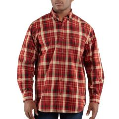 Men's Bellevue Plaid Long-Sleeve Shirt Closeout Pricing