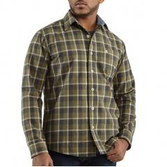 Men's Washed Bellevue Plaid Slim Long-Sleeve Shirt Closeout Pricing