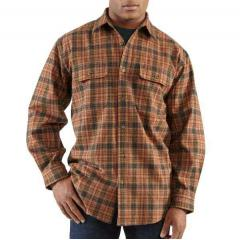 Carhartt Men's Hubbard Heavyweight Plaid Shirt Closeout Pricing