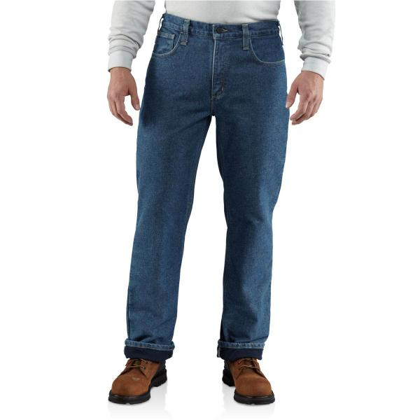 Carhartt Men's Flame-Resistant Lined Utility Denim Jean - Relaxed Fit