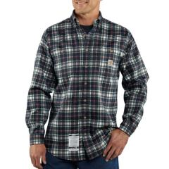 Men's Flame-Resistant Work-Dry Plaid Twill Shirt