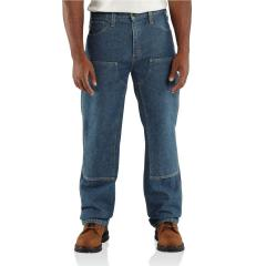Carhartt Men's Flame-Resistant Utility Denim Double-Front Jean - Relaxed Fit