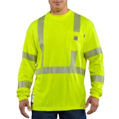 Men's Flame-Resistant High-Visibility Long-Sleeve T-Shirt - Class 3