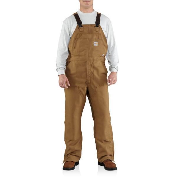Carhartt Men's Flame-Resistant Canvas Bib Overall - Unlined