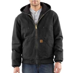 Carhartt Men's Quilted-Flannel-Lined Sandstone Active Jac