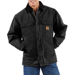 Carhartt Men's Sandstone Traditional Coat - Arctic-Quilt Lined