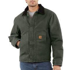 Carhartt Sandstone Traditional Jacket - Arctic-Quilt Lined