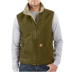 Mock-Neck Vest - Sherpa Lined - Discontinued Pricing