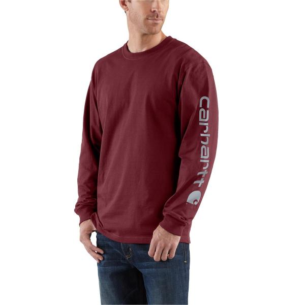 Carhartt Men's Signature Sleeve Graphic Long-Sleeve T-Shirt - Discontinued Pricing
