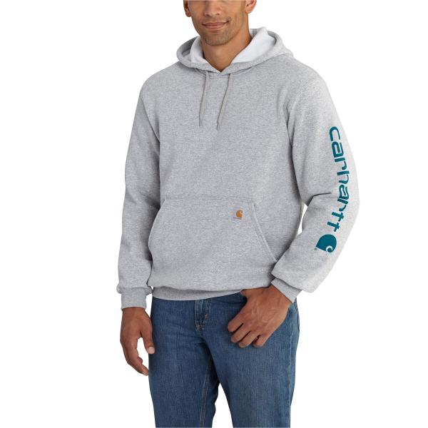 Carhartt Midweight Signature Sleeve Logo Hooded Sweatshirt - Discontinued Pricing