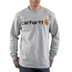 Carhartt Men's Signature Logo Long-Sleeve T-Shirt - Discontinued Pricing