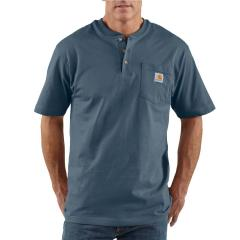 Men's Workwear Pocket Short-Sleeve Henley - Discontinued Pricing