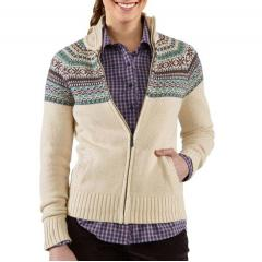 Women's Folk Pattern Cardigan Sweater