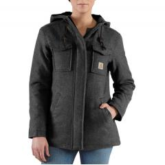 Women's Solid Wool Parka Closeout Pricing