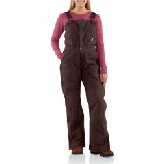 Women's Sandstone Bib Overall - Quilt Lined