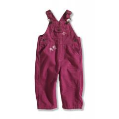 Infant and Toddler Girls' Washed Canvas Bib Overall