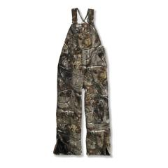 Work Camo Washed Duck Bib Overall