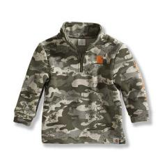 Infant and Toddler Boys' Logo Camo Fleece Quarter Zip Sweatshirt