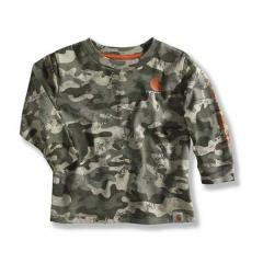 Infant and Toddler Boys' Green Camo Logo T-Shirt