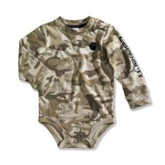 Infant Boys' Brown Camo Logo Bodyshirt