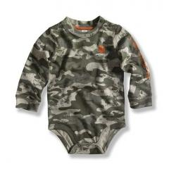 Infant Boys' Green Camo Logo Bodyshirt