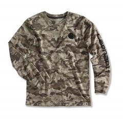 Boys' Brown Camo Logo T-Shirt