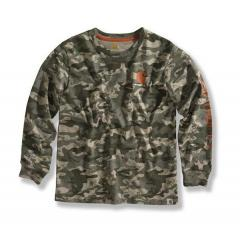 Boys' Green Camo Logo T-Shirt