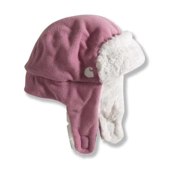 Carhartt Infant and Toddler Girls' Trapper Hat - Sherpa Lined