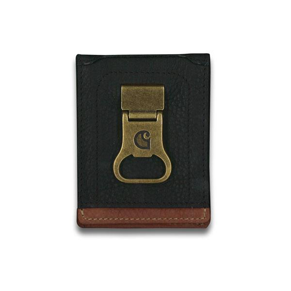 Carhartt Men's Black & Tan Long Neck Wallet