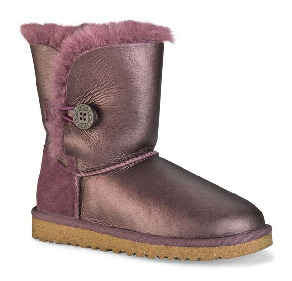 UGG Australia Big Kid's Bailey Button Metallic