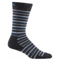 Men's Merino Wool Small Stripe Crew Light