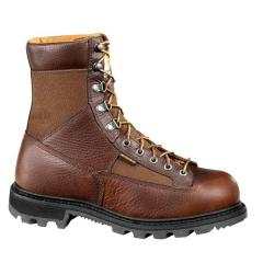 Men's 8 Inch Low Heel Waterproof Logger Boot Steel Toe