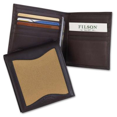 Filson Leather/Twill Packer Wallet