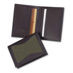 Leather/Twill Credit Card Holder