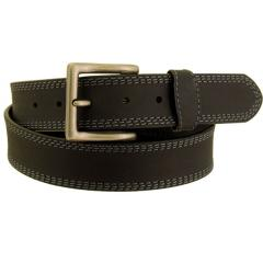 Men's Rugged Wear Belt 1 1/2 Inch Heavy Oil Tanned Leather Side Stitch