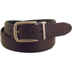 Men's Rugged Wear Belt 1 1/2 Inch Heavy Oil Tanned Leather Reversible