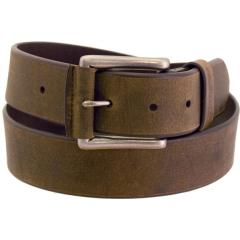 Men's Rugged Wear Belt 1 1/2 Inch Heavy Oil Tanned Leather - Tan