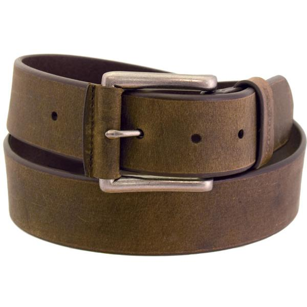 Wrangler Men's Rugged Wear Belt 1 1/2 Inch Heavy Oil Tanned Leather - Tan