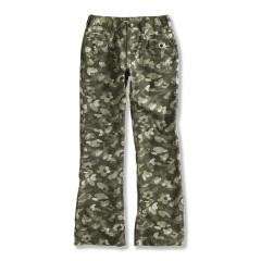 Washed Printed Camo Ripstop Pant