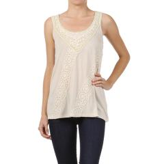 Lace Trim Tank Top