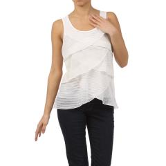 Fabric Mix Tier Tank Top