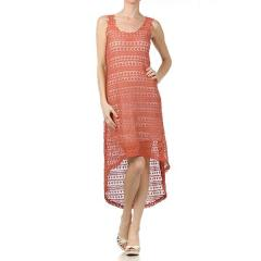 Women's Hi-Low Racer Maxi Dress