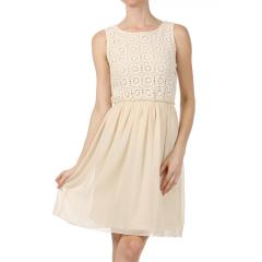 Women's Crochet Top Chiffon Dress