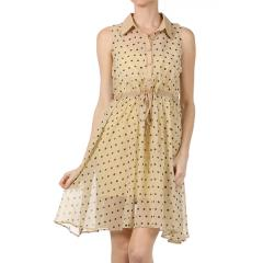 Women's Polka Dot Shirt Dress