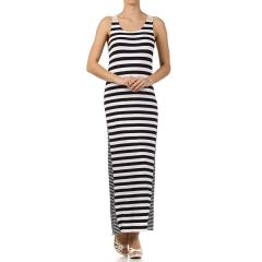 Women's Crochet Back Stripe Maxi Dress